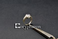 Solitaire ring- silver with cubic zirconia