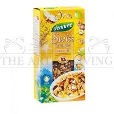 Крънчи - Плодово, 375 гр.-висококачествен био продукт богат на фибри,белтъци, витамини и минерали.  Здравословна закуска за всеки ден!  Произход: Германия