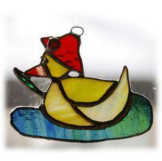 Duckling Suncatcher Stained Glass Easter bonnet