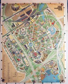 Vintage 1964-65 World's Fair Map