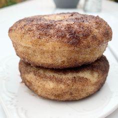 Easy cinnamon sugar donuts, dairy and egg free! Milk Allergy Mom Dairy Free Baking, Dairy Free Eggs, Egg Free, Milk Allergy, Cinnamon Sugar Donuts, Donut Shop, Recipe For Mom, Food Allergies, Bagel