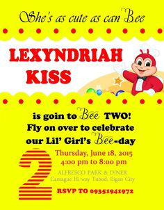16 Best Lexy Kiss Jollibee Theme Party Images 2nd Anniversary 2nd