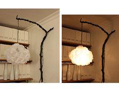 """lampe """"nuage"""" création """"souffleuse d'idées"""""""