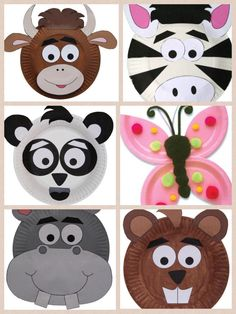 paper plate animals craft kids arts and crafts. Black Bedroom Furniture Sets. Home Design Ideas