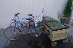 flower pot = bike rack