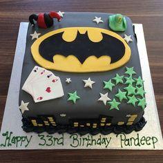 batman themed birthday cake,