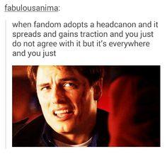 When fandoms adopt a headcanon