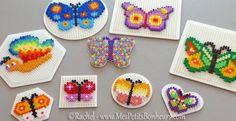 Modèles de papillons en perles à repasser Hama – Bricolage de printemps !
