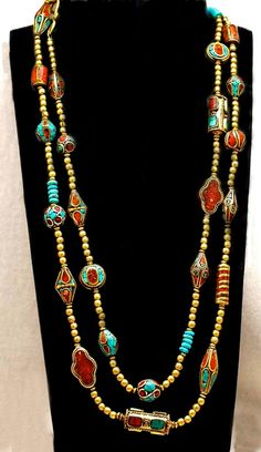Nepalese TwentySeven Bead Necklace by SilkRoadJewelry on Etsy