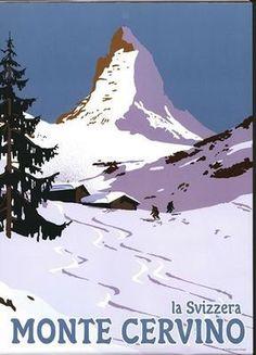 Monte Cervino, Switzerland. Matterhorn mountain's Italian side.