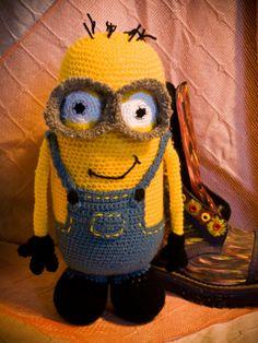 Minion stuffed crochet toy by AnnaSHandMD on Etsy,