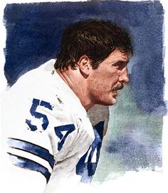 Randy White, Dallas Cowboys by Merv Corning.