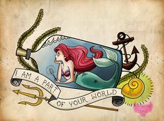 I love the idea of a Mermaid in a bottle but mine wouldn't be Disney themed, just a traditional mermaid