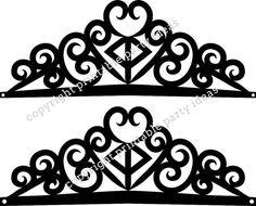 SVG Cut Files Princess Crown Cricut by PrintablePartyIdeas