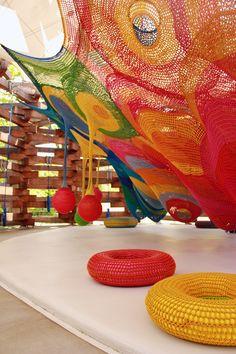 Harmonic Motion - Toshiko Horiuchi MacAdam #colours #playground #crochet #art