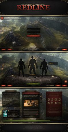Fantasy GUI - RedLine by Evil-S on deviantART