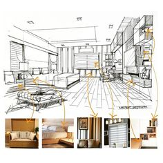 Bedroom #Design #sketch #perspective #interior