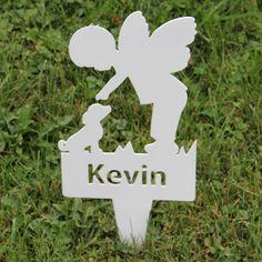Boy Angel  Memorial Garden Stake by NewCastleSign on Etsy, $29.00