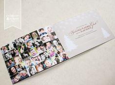 Weihnachtskarte mit Fotocollage, 4-seitige Falzkarte für eine Fotografin in DIN A6. Hirsch, Stern, Weiß, Rot, Beige, Grau Design & Foto ©passion4paper www.die-edle-karte.de