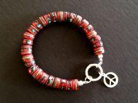 bracelet from nikidesaintgall. Leather Jewelry, Beaded Bracelets, Bohemian, Pendants, Jewellery, Chic, Silver, Fashion, Shabby Chic