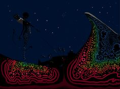 Illustration by Timi Turzó. The Night Hunter. The meaning of life and death … I think.