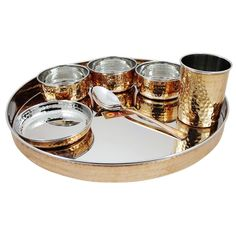 Dinnerware Stainless Steel Copper Traditional Dinner Set,set dinner dinnerware #VisvabhavanahMart