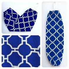 Plastic Bag Holder/ Grocery Bag Holder/ Bag Dispenser - Blue Geometric by NatcessoriesShop on Etsy