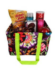 Ladybug Garden Collapsible Square Utility Tote