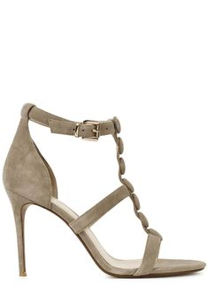 Exclusive to Harvey Nichols Raye taupe suede sandals