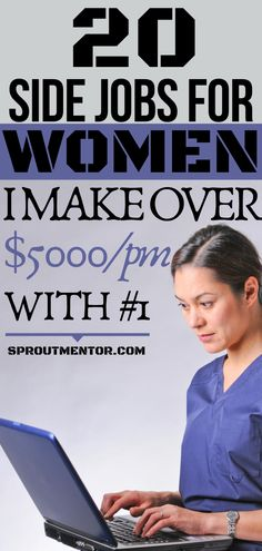 Side jobs for women which will make you financially independent and also allow you to work from home if you are a stay at home mom or any other person looking for work at home jobs. #onlinejobs #workfromhomejobs #sidejobsforwomen #women #womencareers #womenhobbies #makemoneyonline #money #finance #jobs #stayathomejobs