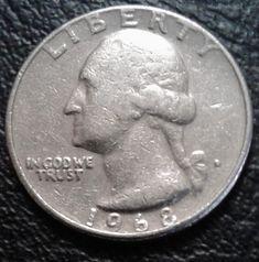 1968 D Washington Quarter Coin Rare Coin Values, Rare Coins Worth Money, Coin Worth, Pennies, Coin Collecting, Piggy Bank, Washington, History, Coins