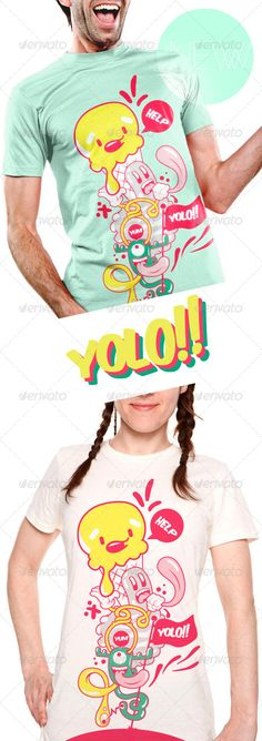 Yolo T-Shirt Template Vector EPS, AI. Download here: http://graphicriver.net/item/yolo-tshirt/6380884?ref=ksioks