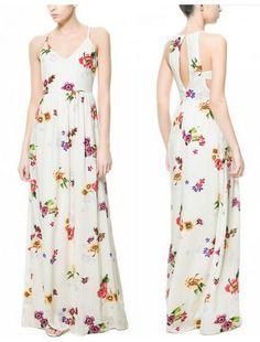 Maxi Vestido Flores - Sob Encomenda