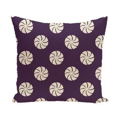 "The Holiday Aisle Decorative Holiday Geometric Print Throw Pillow Size: 16"" H x 16"" W, Color: Royal Blue"