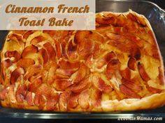 Cinnamon French Toast Bake | 2CookinMamas An easy overnight french toast with plenty of fruity sweetness.