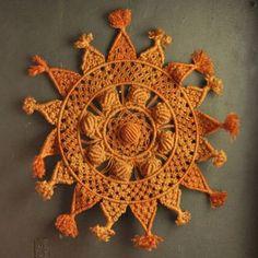 Vintage Sun Mandala Macrame Wall