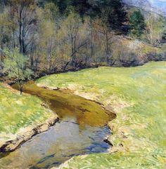 Willard Leroy Metcalf - The Sunny Brook, Chester, Vermont