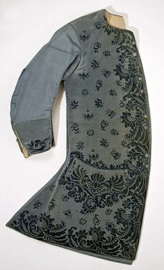 Waistcoat, 1750-1755, French, silk, wool, cotton. (c) Metropolitan Museum of Art