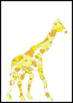 Giraffe-trace for giraffe shirt