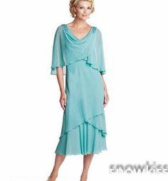 Plus Size Mother of Groom Dresses Tea Length