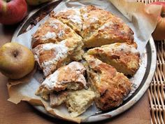 Apple Day, Victorian Orchards and Apple & Dorset Blue Vinny Scone Bread Recipe - Lavender and Lovage Unique Recipes, My Recipes, Bread Recipes, Favorite Recipes, Flour Recipes, Quick Bread, How To Make Bread, Apple Scones, Cheese Scones