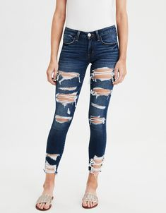 Women Jeans Outfit Long Tops For Jeans White Joggers Best Workout Pants Denim On Denim Ladies Leather Jacket Jeans And Heels Outfit – yuccarlily Cute Ripped Jeans, Womens Ripped Jeans, Ripped Jeans Outfit, Ripped Jeggings, Jacket Jeans, Leather Jacket, Heels Outfits, Jean Outfits, Hollister