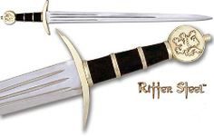 I believe that this sword would have been favored by Paris, due to its royal appearance and imagery.