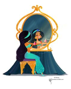 Princess Jasmine Be sure to stop by WonderGround Gallery in the Downtown Disney ® District at the Disneyland ® Resort to check out m. Disney Artwork, Disney Fan Art, Disney Drawings, Disney Love, Walt Disney, Deco Disney, Disney Magic, Disney Princess Jasmine, Disney Princess Art