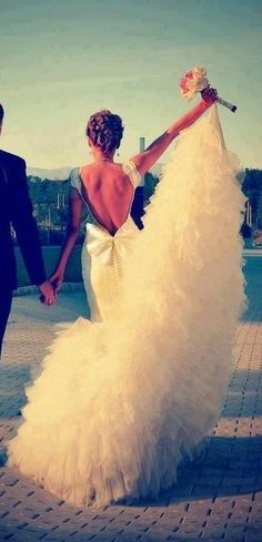 Had something similar like this on my civil wedding day, but this definitely will be the next wedding dress I wear when I get married through the church with my hubby.