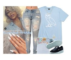 """OVO Drake x Rihanna Fenty x I'm Too Good To You"" by xrated-trends ❤ liked on Polyvore featuring Casetify, Michael Kors, Versace, Linda Farrow, Puma and Lord & Taylor"