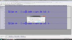 Audio normalisieren der Normalize Effekt in Audacity