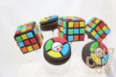 Game & Rubiks Cube Cake Pops