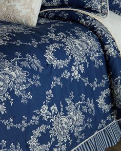 Queen 3-Piece Country Toile Comforter Set by Sherry Kline Home at Horchow.