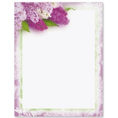 Sweet Lilacs Border Papers | PaperDirect